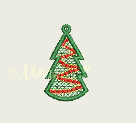 filigree christmas earrings tree